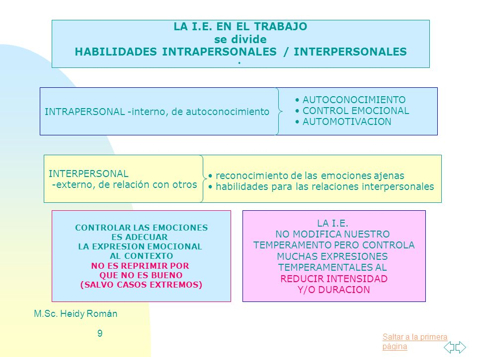 HABILIDADES INTRAPERSONALES / INTERPERSONALES