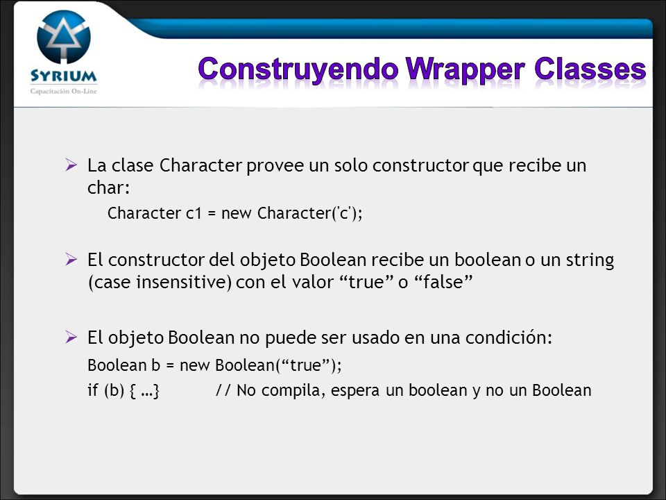 Construyendo Wrapper Classes