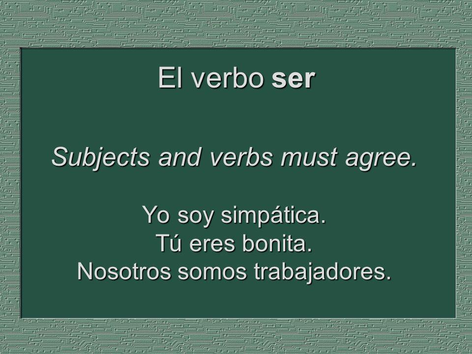 El verbo ser y los adjetivos - ppt descargar