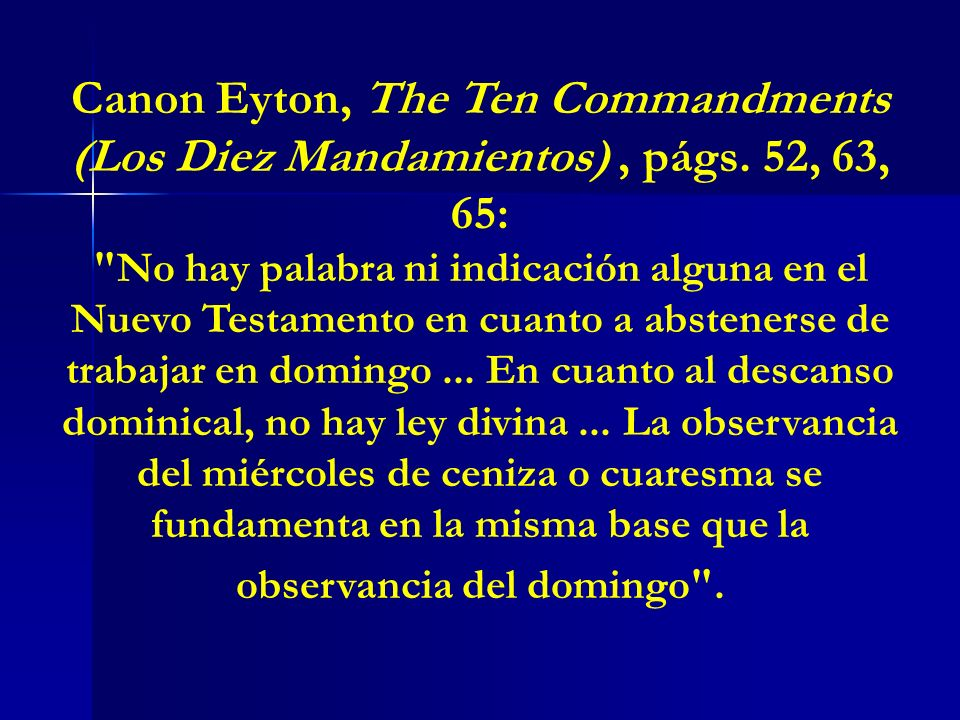 Canon Eyton, The Ten Commandments (Los Diez Mandamientos) , págs