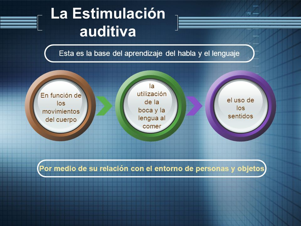 La Estimulación auditiva
