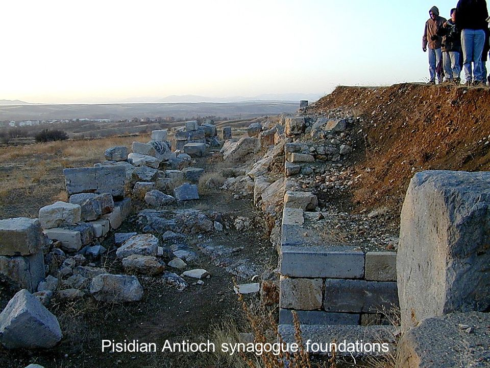Pisidian Antioch synagogue foundations