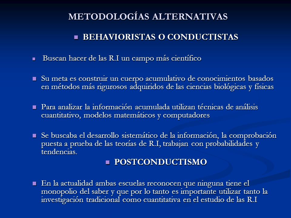 METODOLOGÍAS ALTERNATIVAS