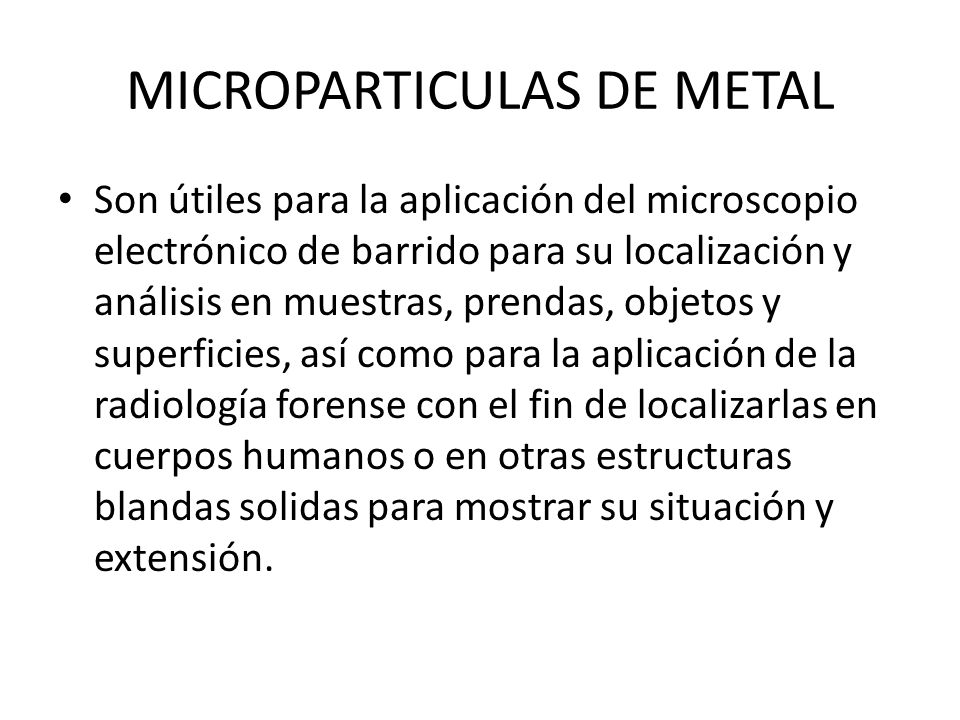MICROPARTICULAS DE METAL
