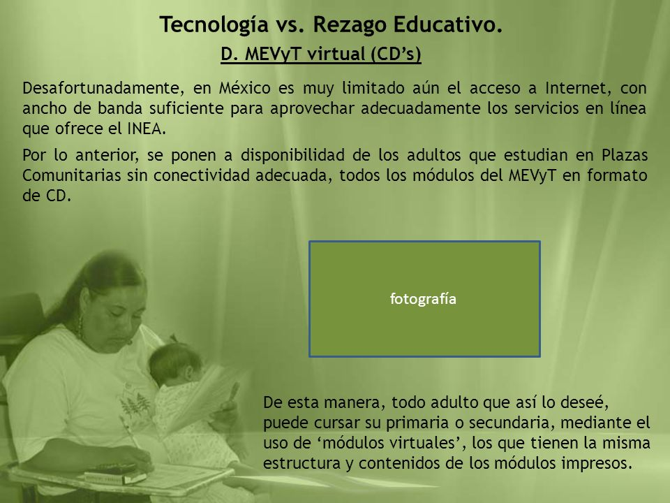 Tecnología vs. Rezago Educativo.