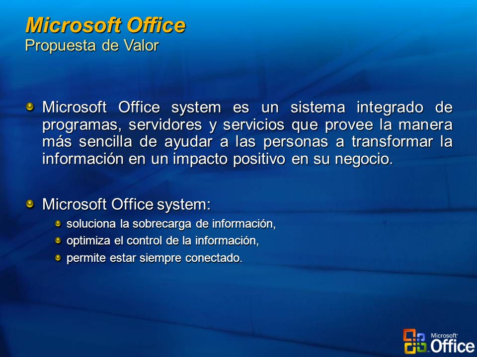Microsoft Office Propuesta de Valor