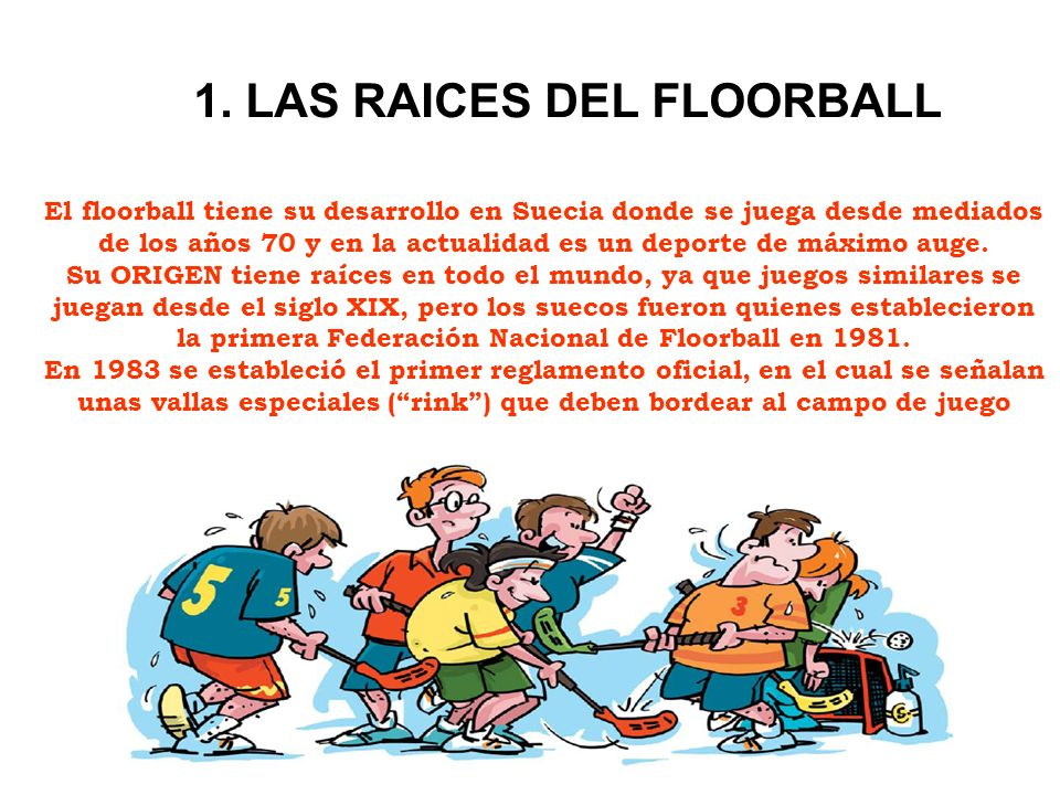 1. LAS RAICES DEL FLOORBALL