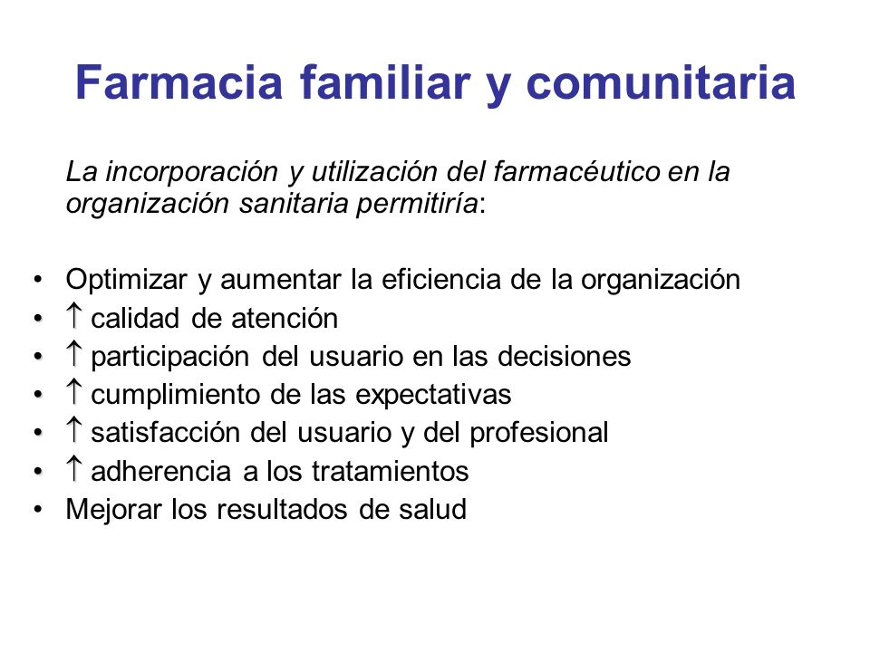 Farmacia familiar y comunitaria