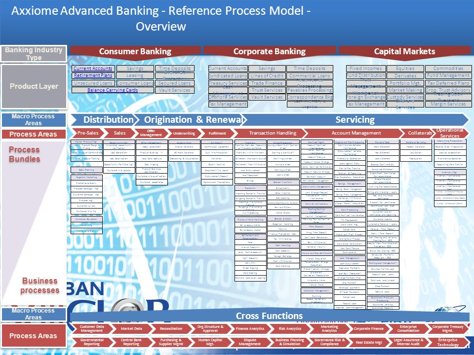 Axxiome Advanced Banking - Reference Process Model - Overview