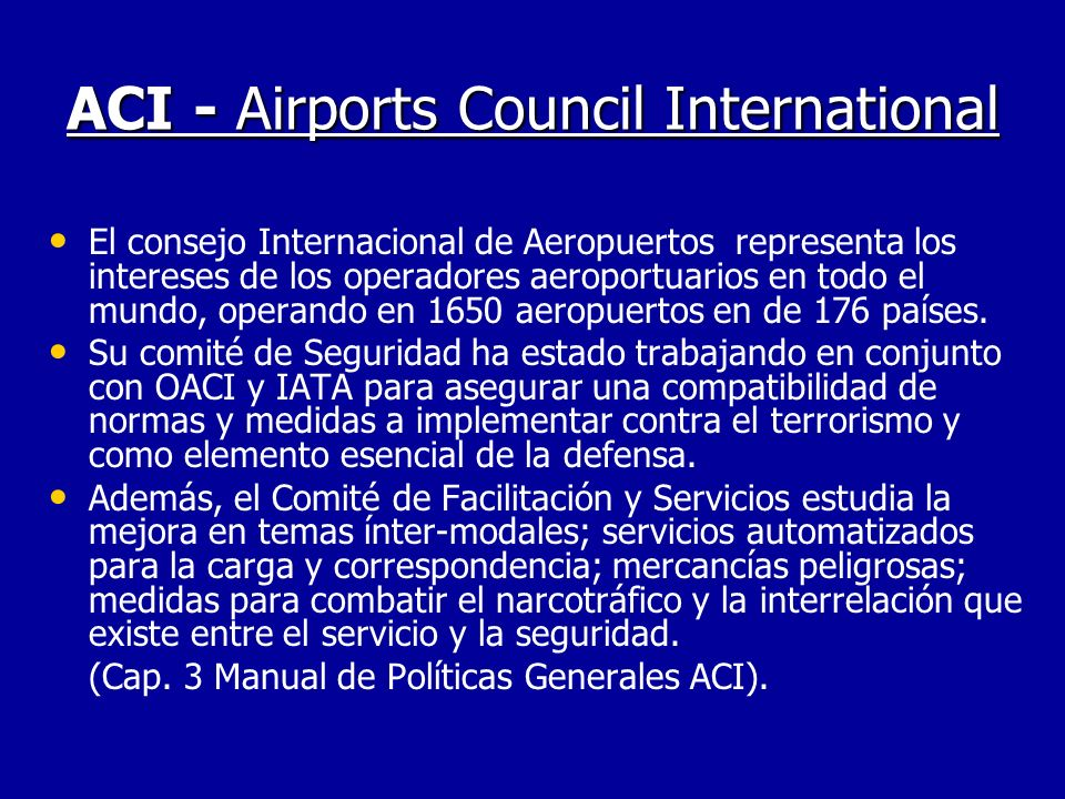 ACI - Airports Council International