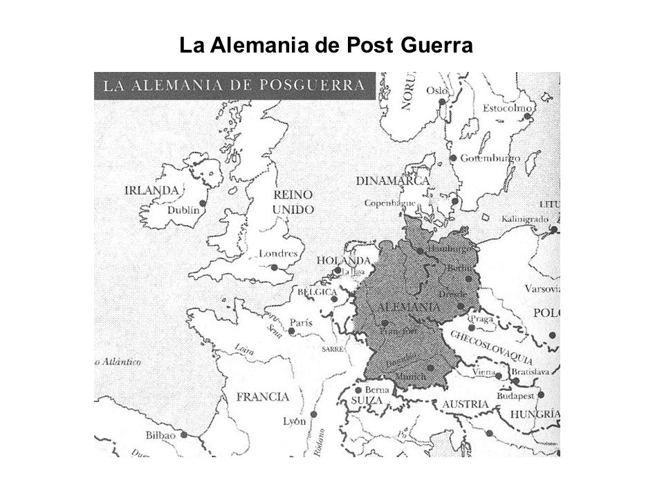 La Alemania de Post Guerra