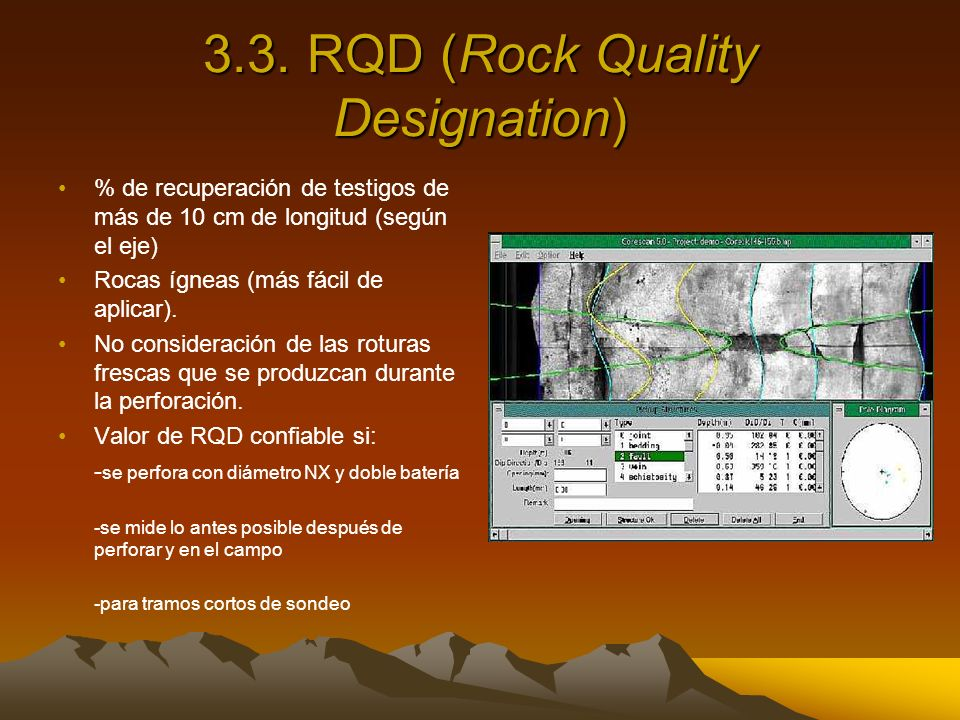 3.3. RQD (Rock Quality Designation)