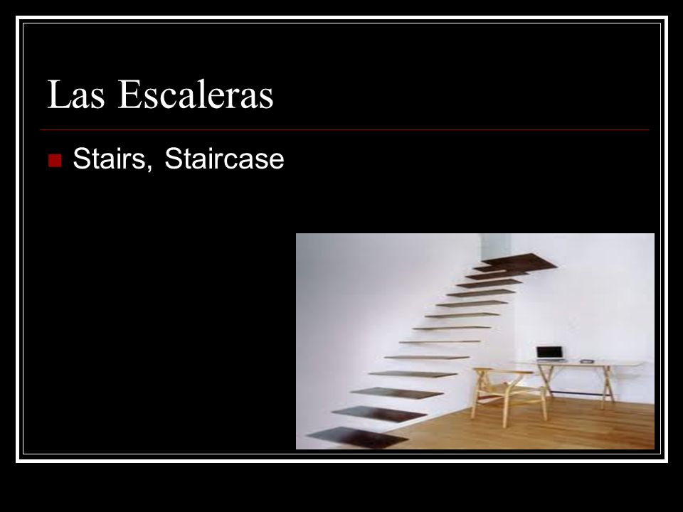 Las Escaleras Stairs, Staircase