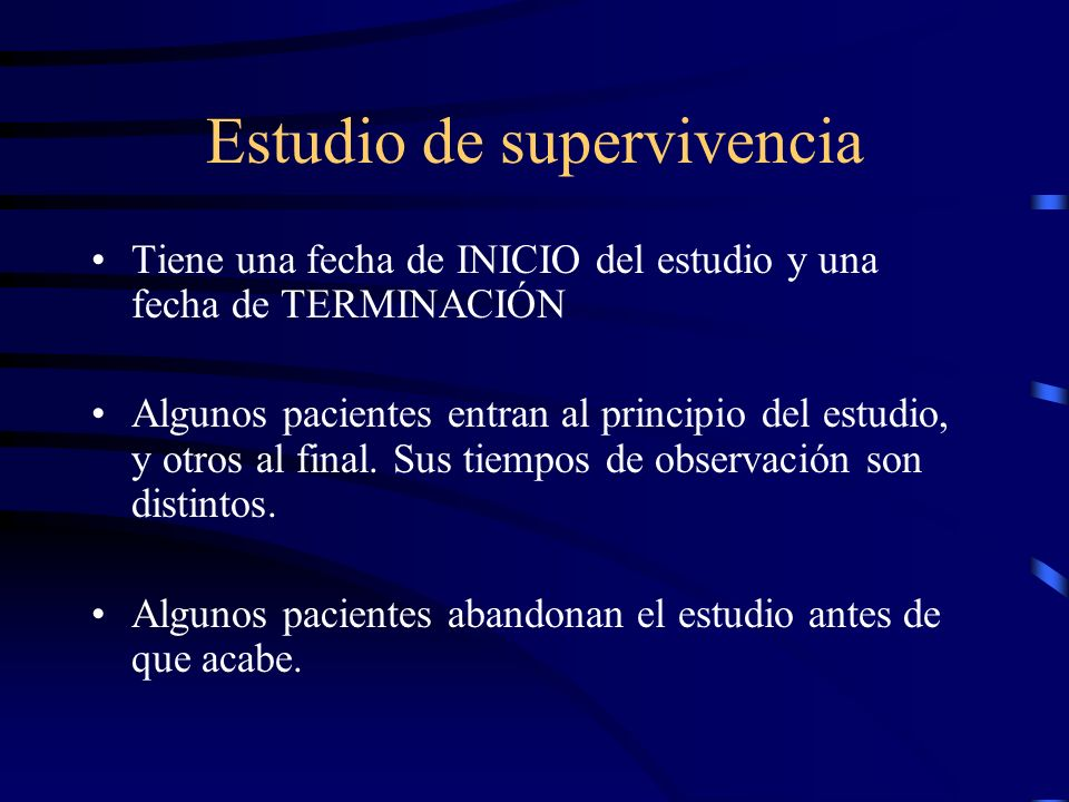 Estudio de supervivencia
