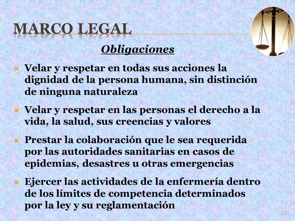Marco Legal Obligaciones