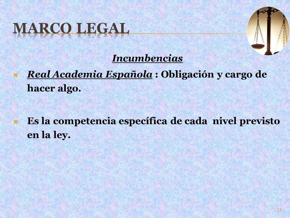 Marco Legal Incumbencias