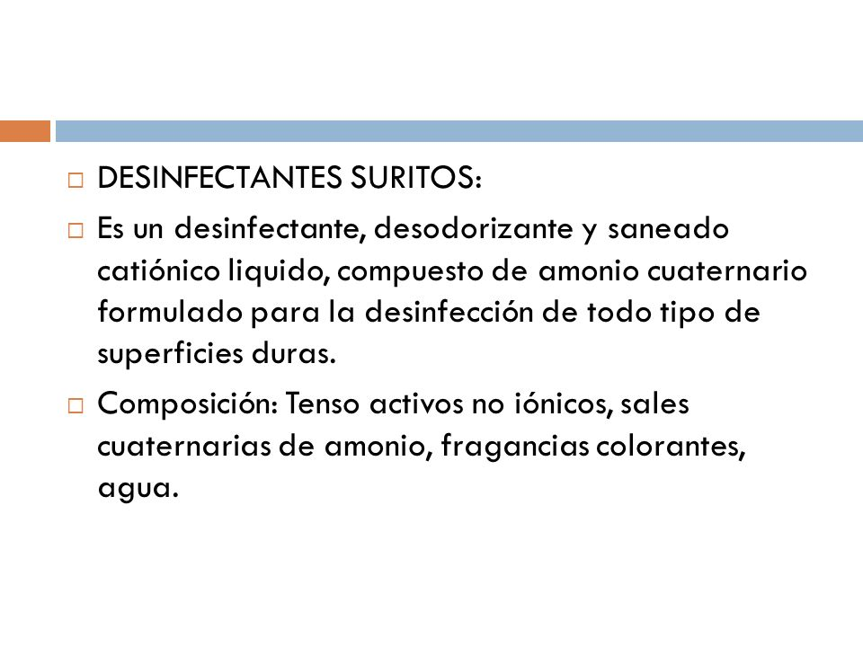 DESINFECTANTES SURITOS: