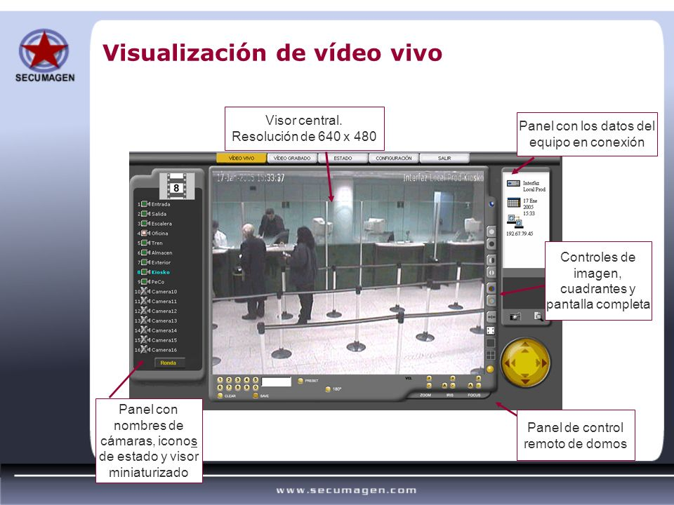 Visualización de vídeo vivo