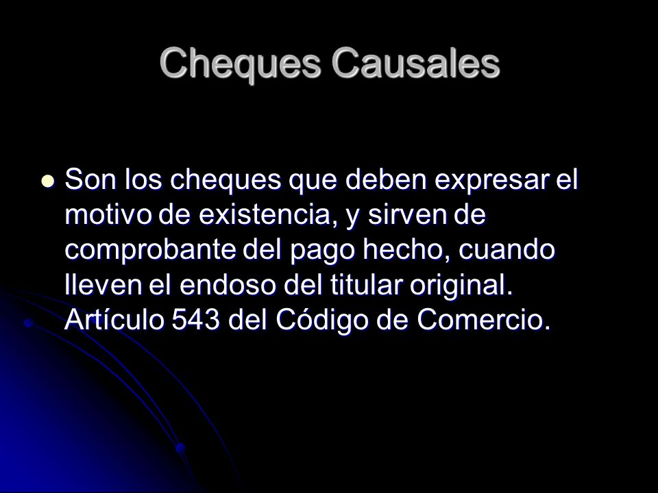 Cheques Causales