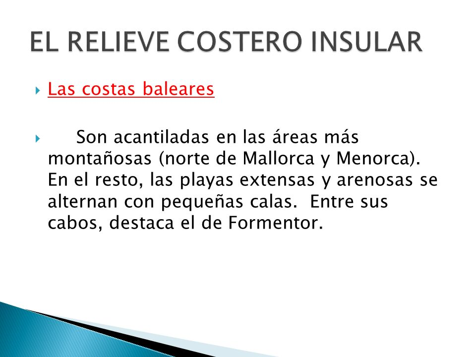 EL RELIEVE COSTERO INSULAR