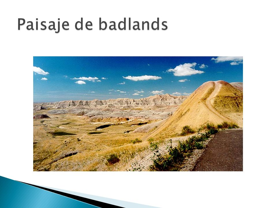Paisaje de badlands