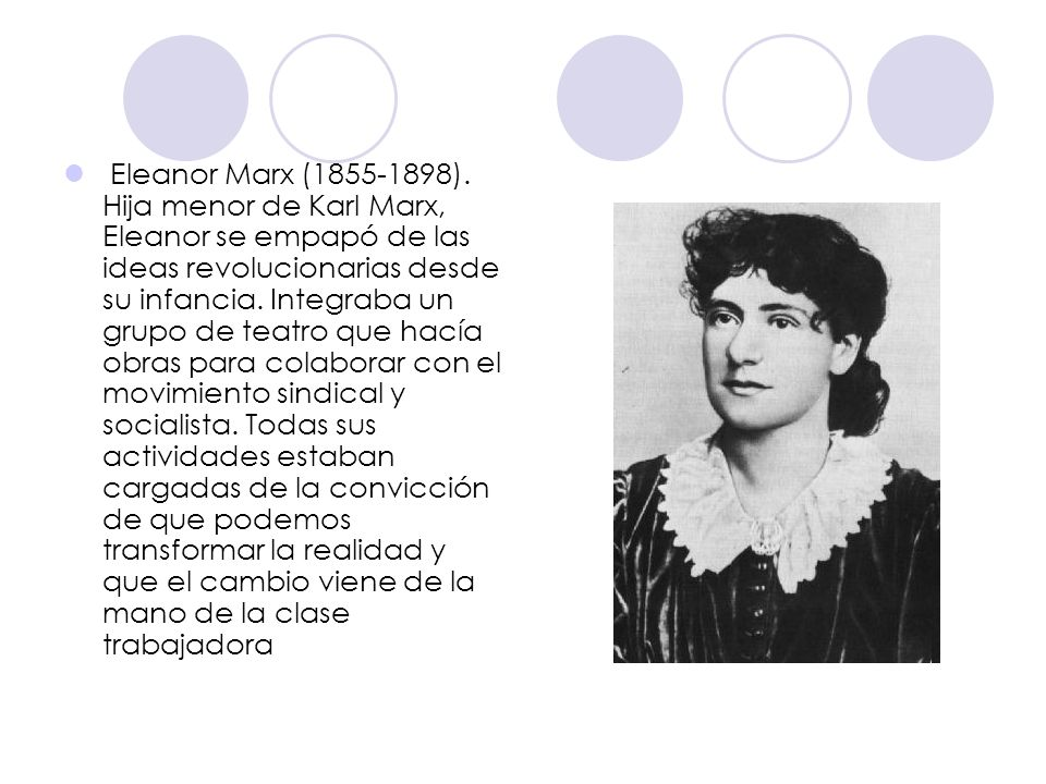 Eleanor Marx ( ).