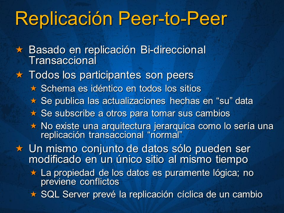 Replicación Peer-to-Peer