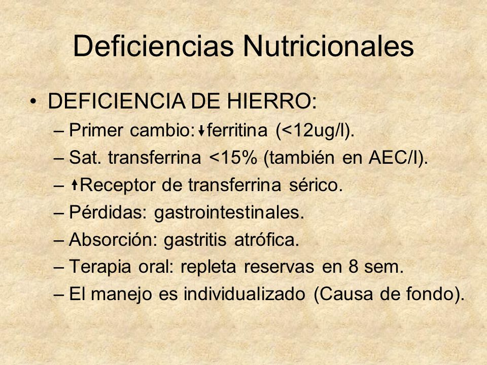 Deficiencias Nutricionales