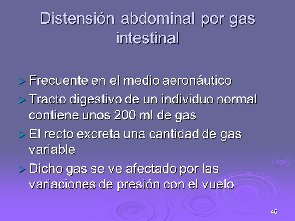 Distensión abdominal por gas intestinal