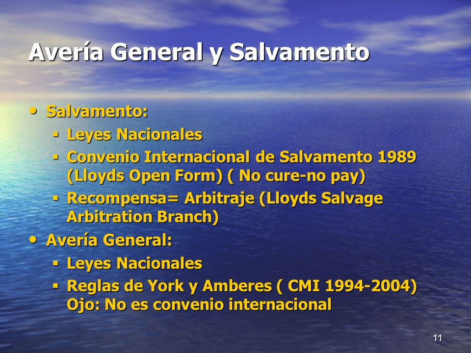 Avería General y Salvamento