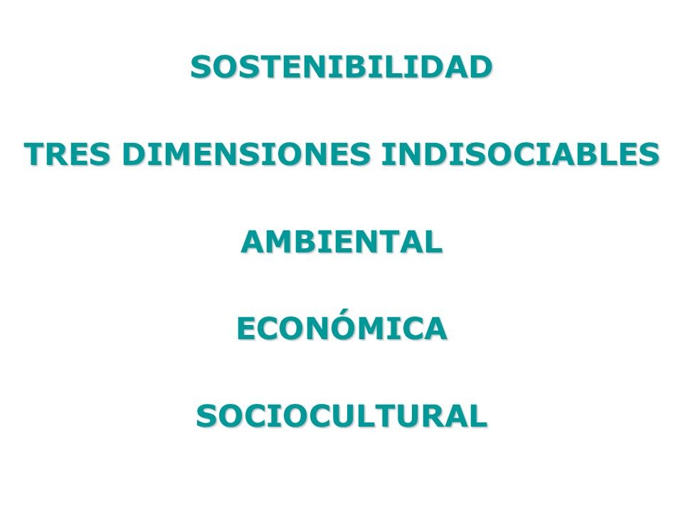 TRES DIMENSIONES INDISOCIABLES