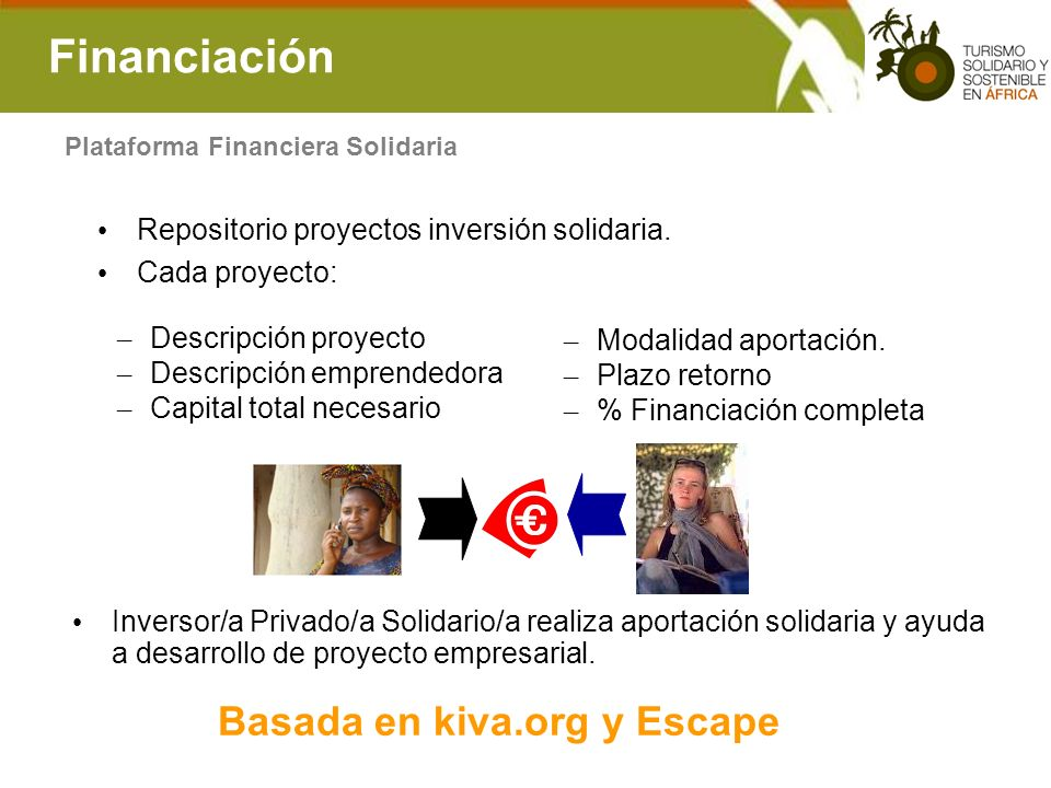 Financiación Basada en kiva.org y Escape