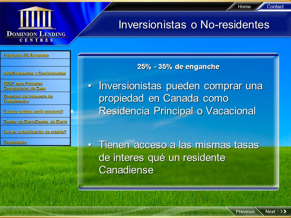 Inversionistas o No-residentes