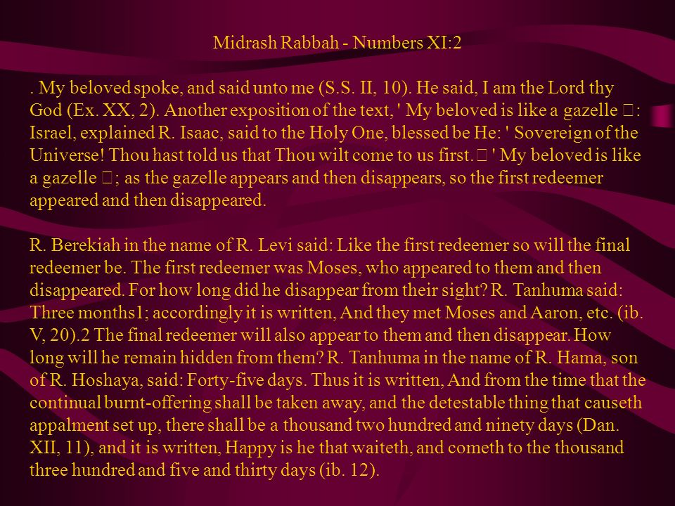Midrash Rabbah - Numbers XI:2