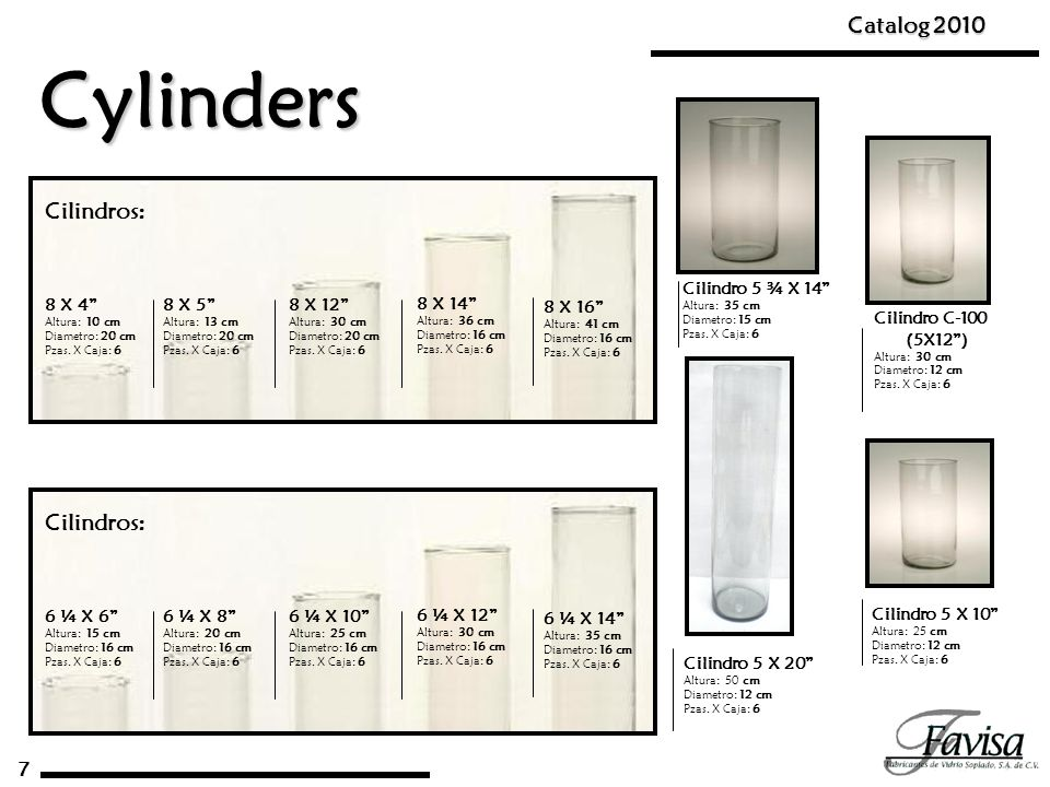 Cylinders Catalog 2010 Cilindros: Cilindros: 7 Cilindro 5 ¾ X 14