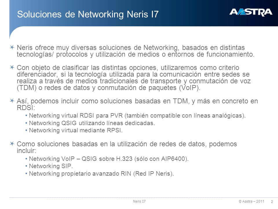 Soluciones de Networking Neris I7