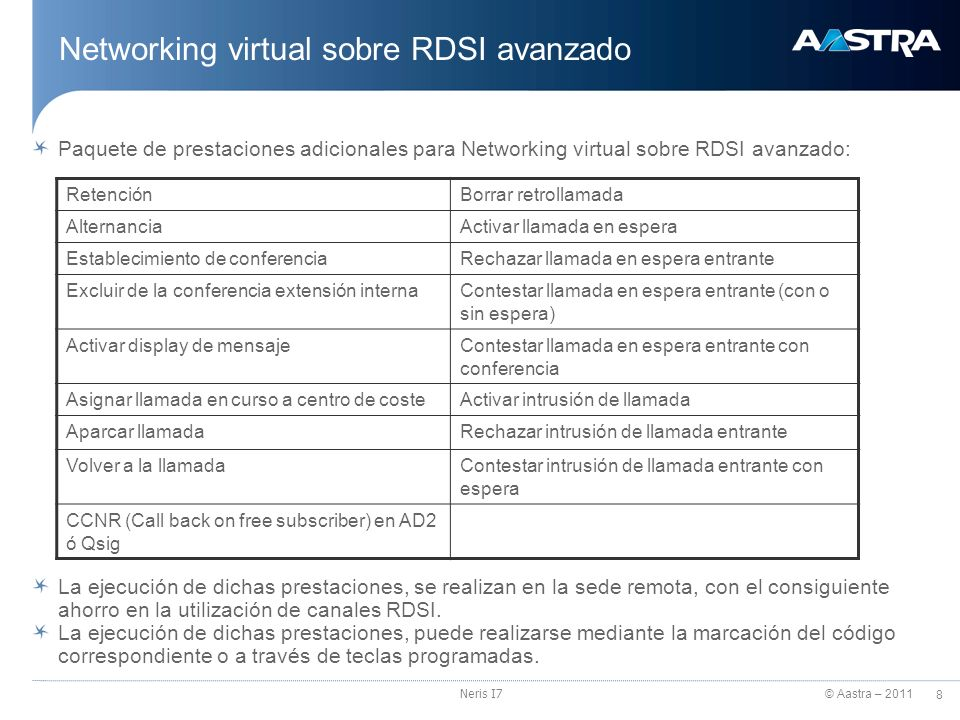 Networking virtual sobre RDSI avanzado