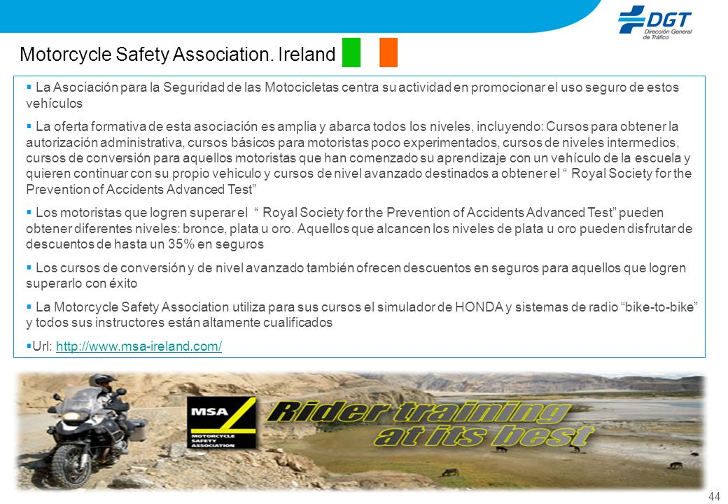 Motorcycle Safety Association. Ireland