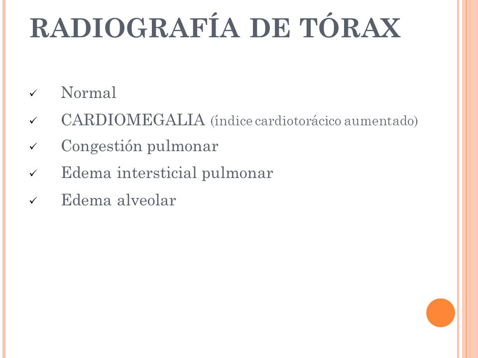 RADIOGRAFÍA DE TÓRAX Normal