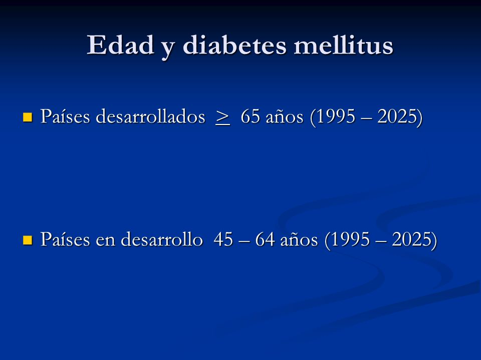 Edad y diabetes mellitus