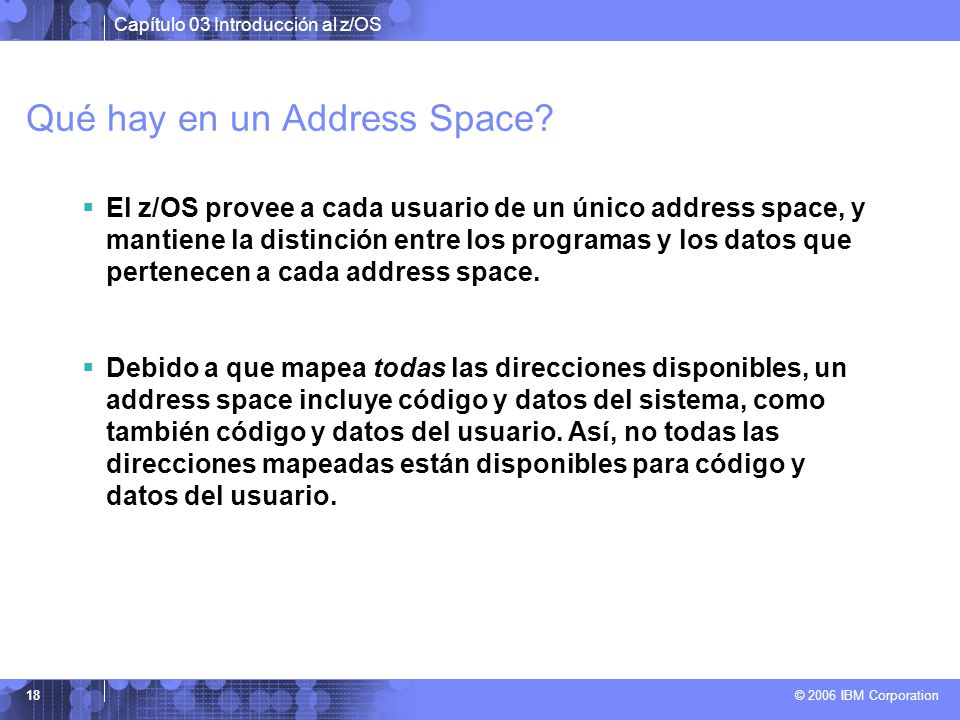 Qué hay en un Address Space