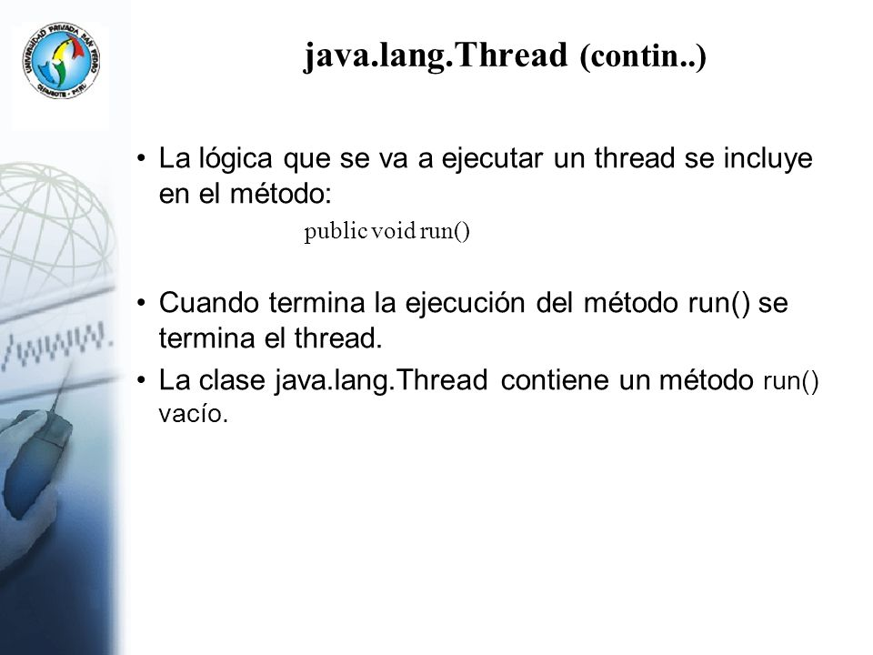 java.lang.Thread (contin..)