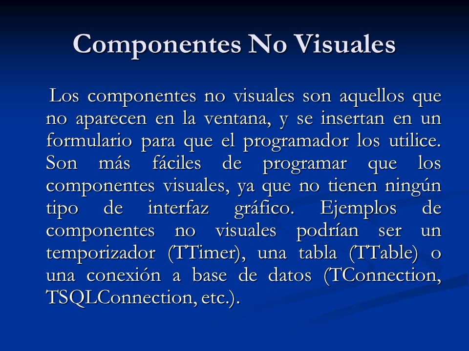 Componentes No Visuales