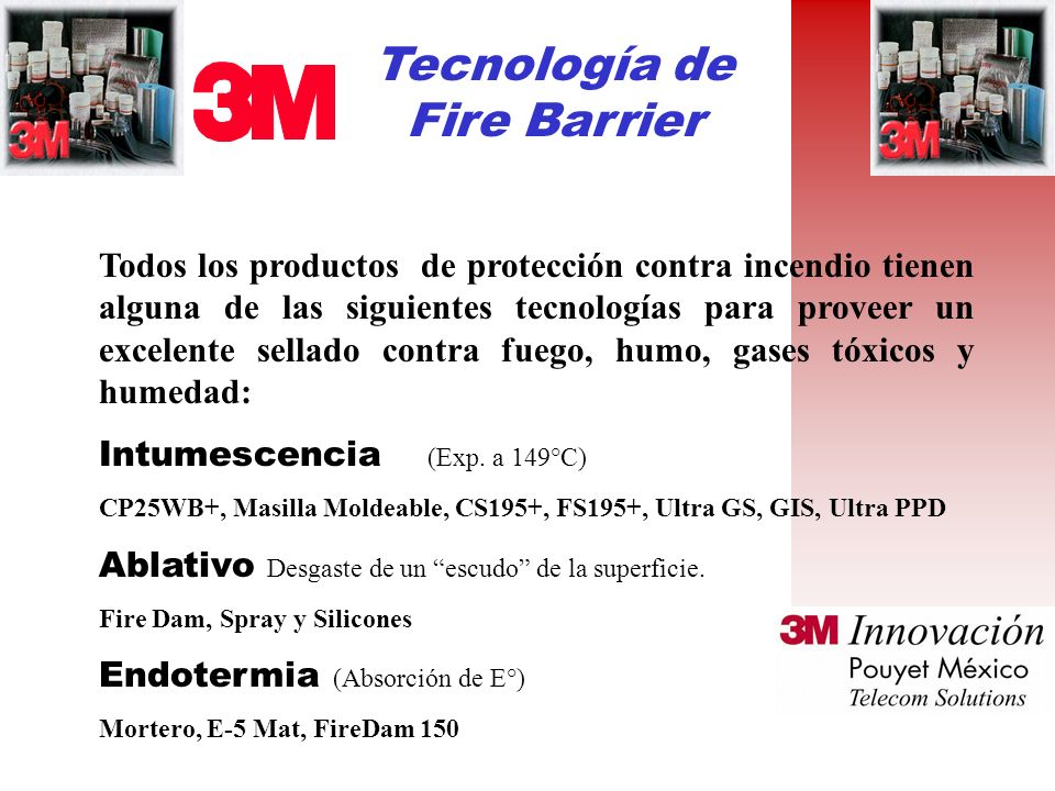 Tecnología de Fire Barrier