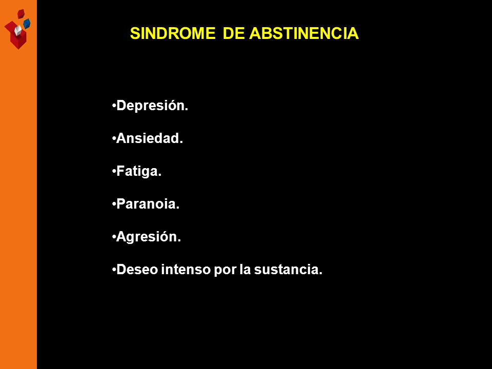 SINDROME DE ABSTINENCIA