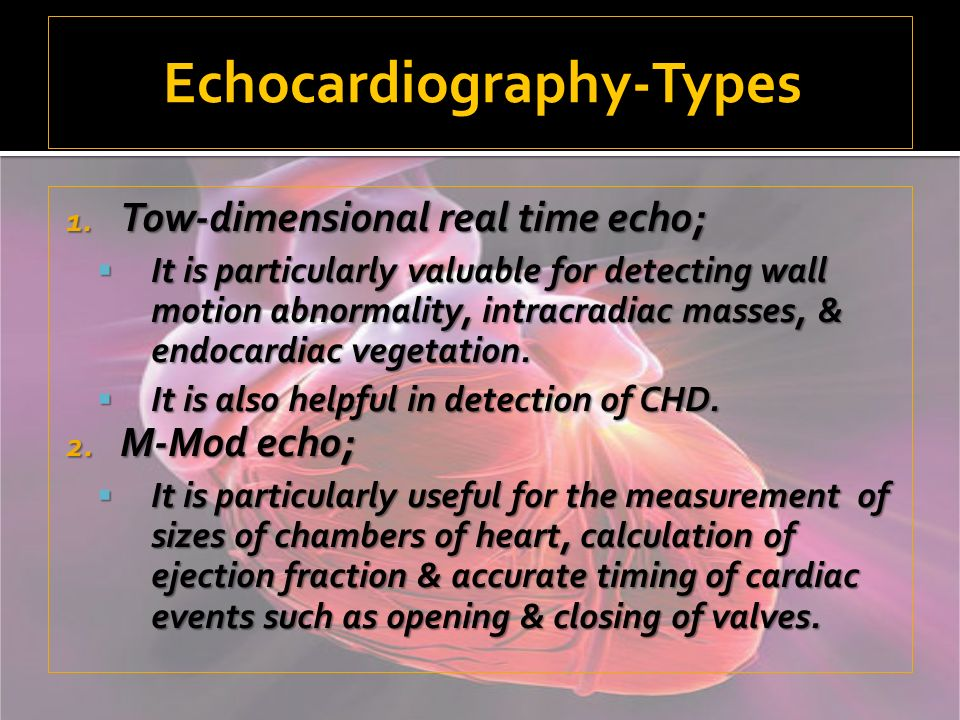 Echocardiography-Types