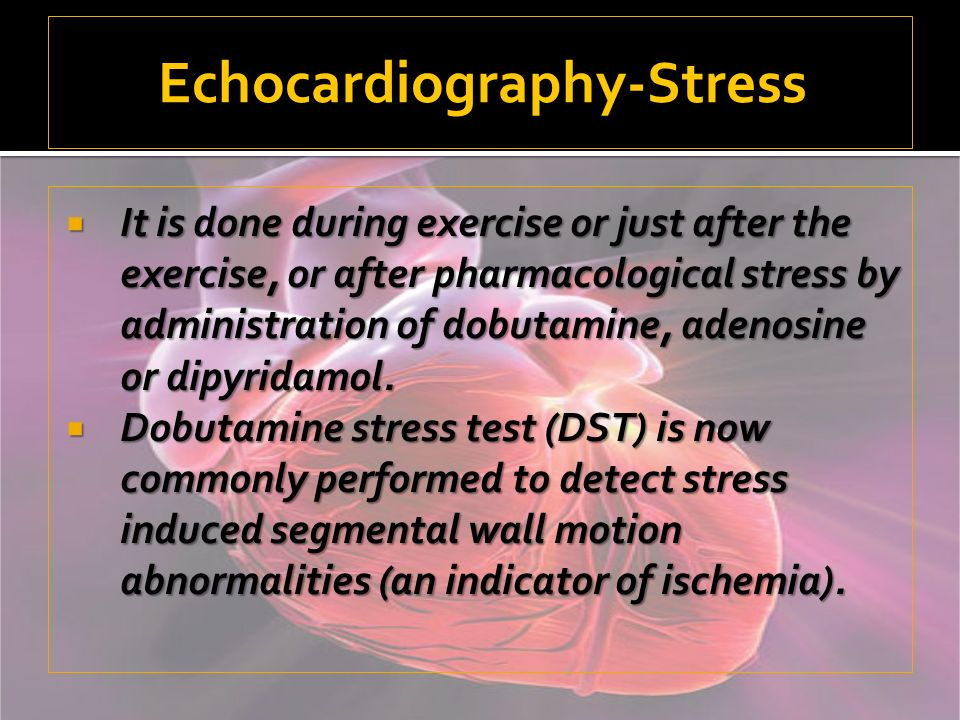Echocardiography-Stress