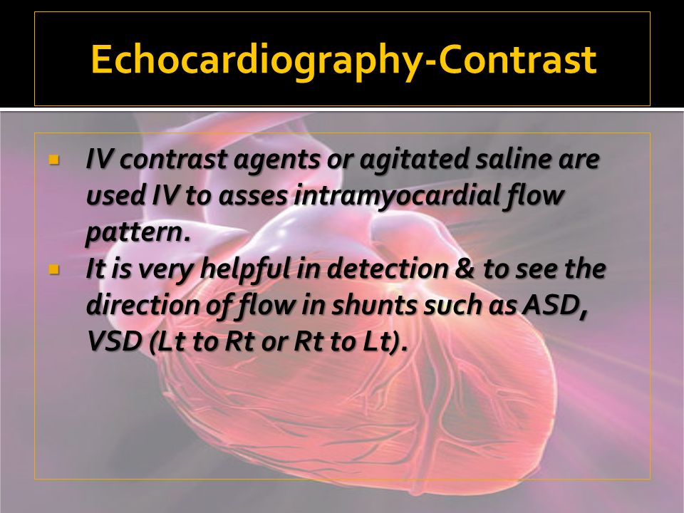 Echocardiography-Contrast