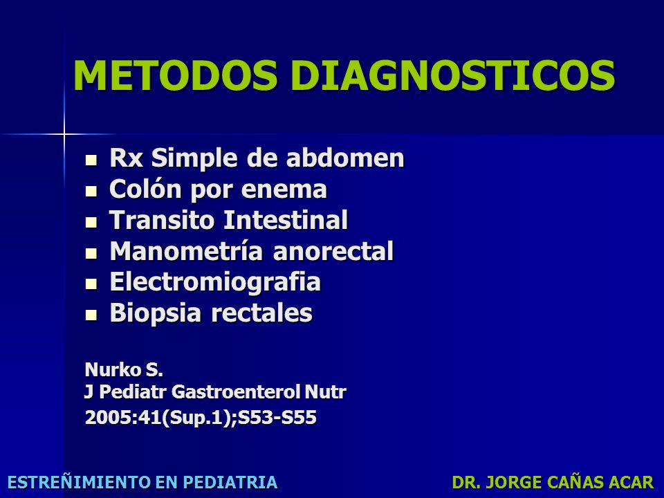 METODOS DIAGNOSTICOS Rx Simple de abdomen Colón por enema