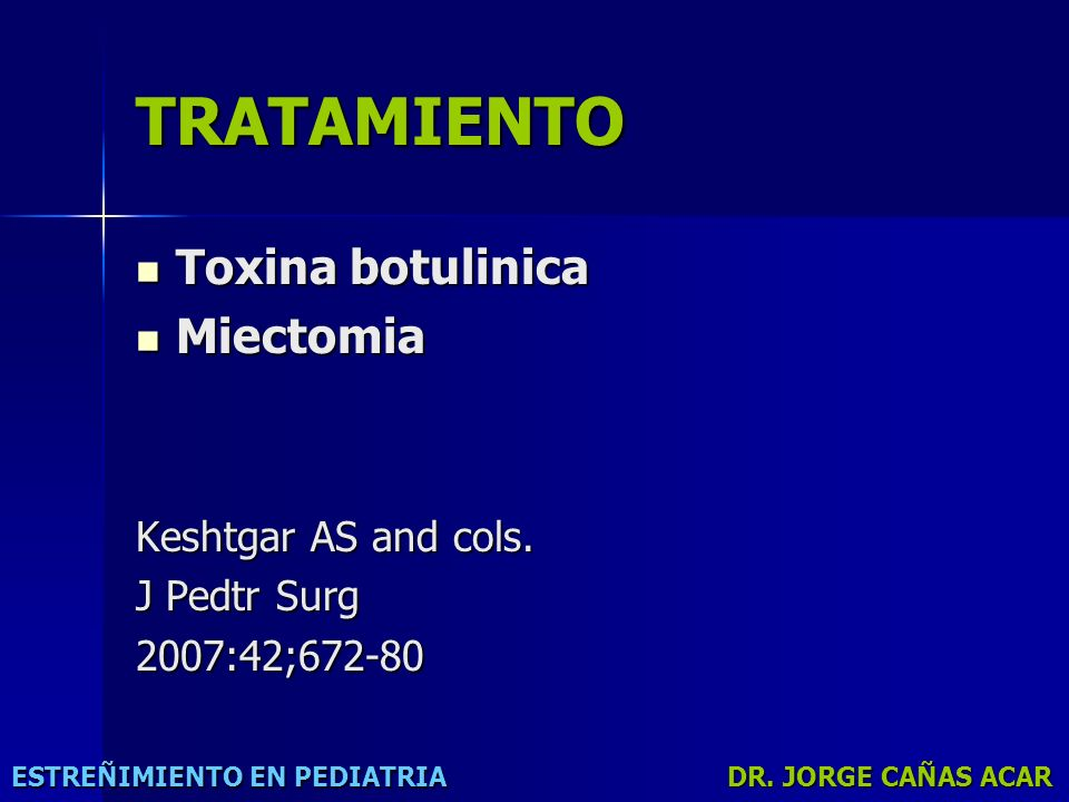 TRATAMIENTO Toxina botulinica Miectomia Keshtgar AS and cols.